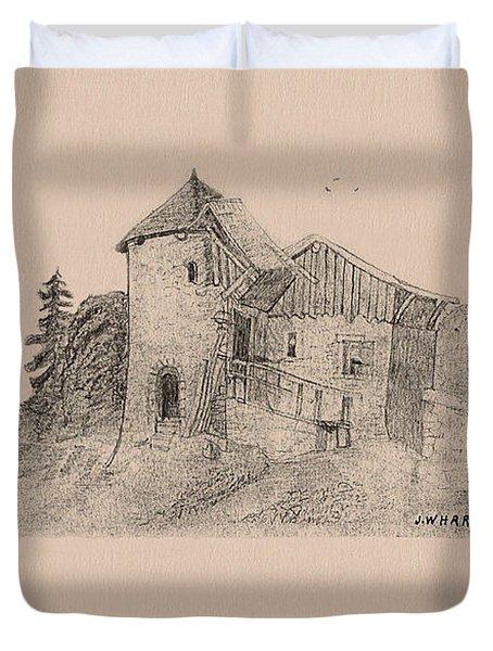 Rural English Dwelling Duvet Cover