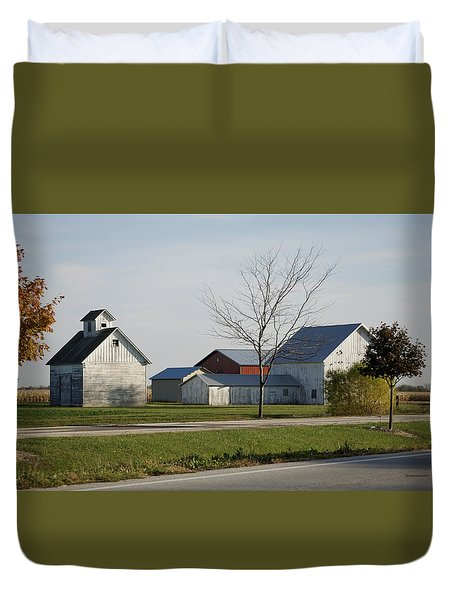 Rural Farm Central Il Duvet Cover by Thomas Woolworth