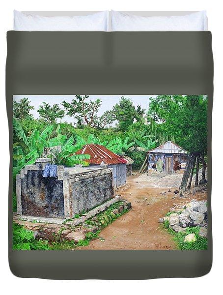 Rural Haiti - A Study In Poignancy Duvet Cover