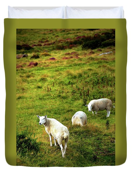Duvet Cover featuring the photograph Rural Idyll. Wicklow. Ireland by Jenny Rainbow