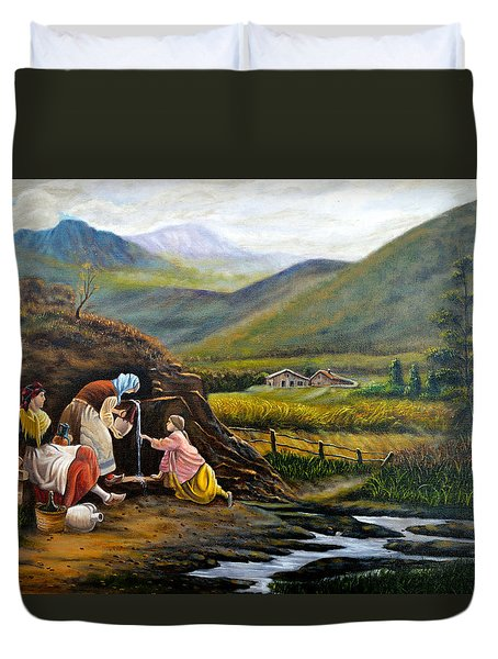 Rural Life Duvet Cover by Tony Banos