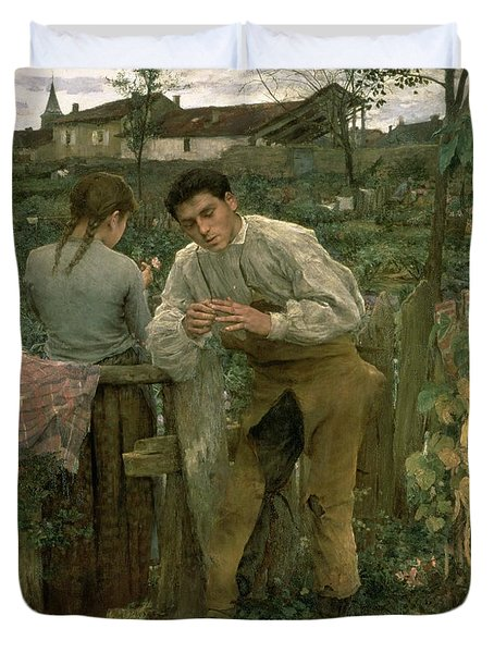 Rural Love Duvet Cover by Jules Bastien Lepage