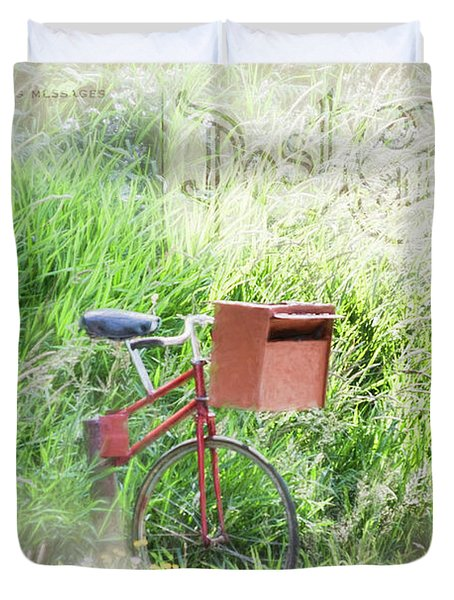 Duvet Cover featuring the photograph Rural Mailbox by Jean OKeeffe Macro Abundance Art