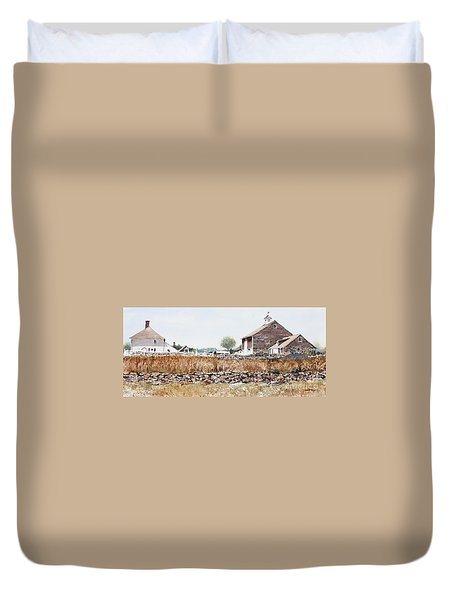 Rural Maine Duvet Cover by Monte Toon