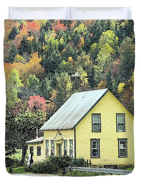 Rural New England Duvet Cover by Betty LaRue