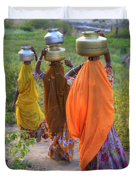 rural Rajasthan Duvet Cover