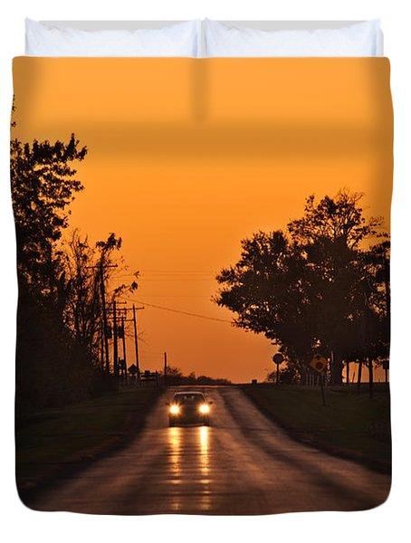 Rural Road Trip Duvet Cover