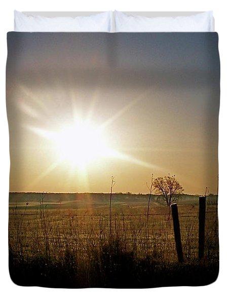 Rural Sunrise Duvet Cover by Sue Stefanowicz