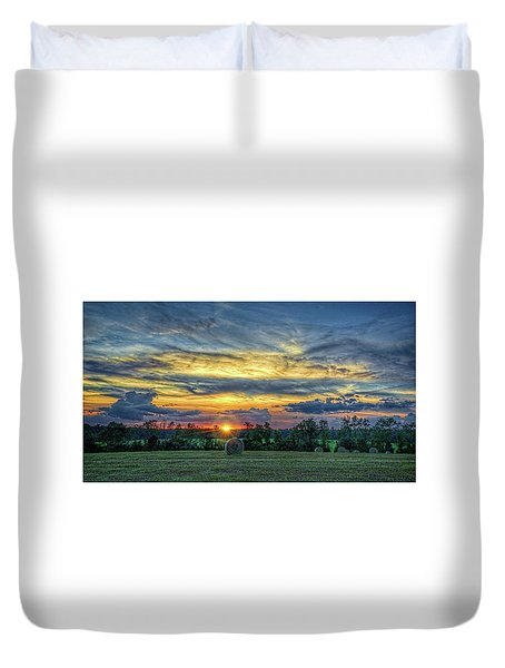 Duvet Cover featuring the photograph Rural Sunset by Lewis Mann