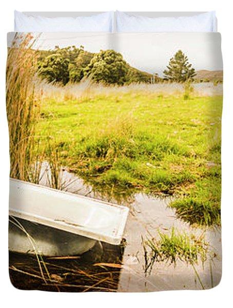 Rural Tasmania Farm Scene Duvet Cover