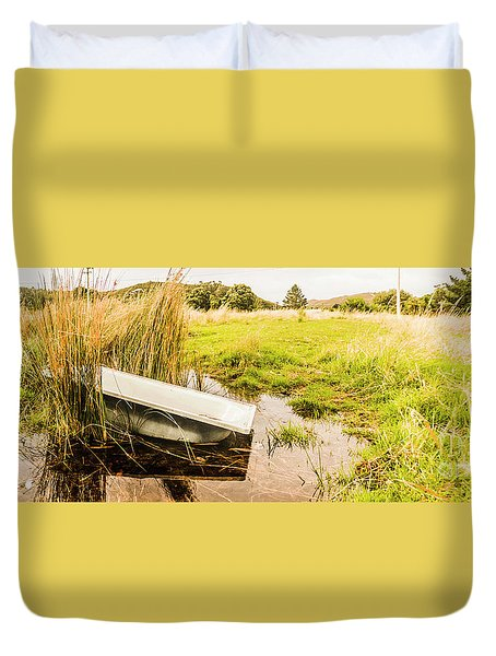 Rural Tasmania Farm Scene Duvet Cover
