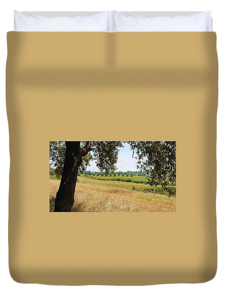 Duvet Cover featuring the photograph Rural Tuscany by Valentino Visentini