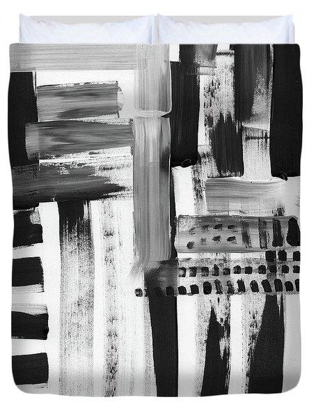 Rush Hour- Art By Linda Woods Duvet Cover