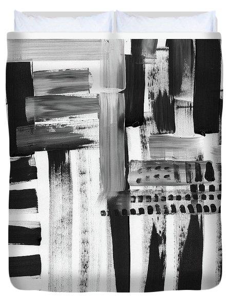 Rush Hour- Art By Linda Woods Duvet Cover by Linda Woods