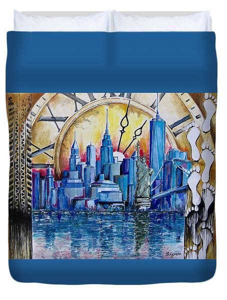 Rush Hour In New York  Duvet Cover