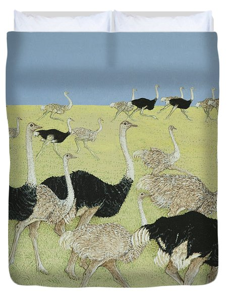 Rush Hour Duvet Cover by Pat Scott