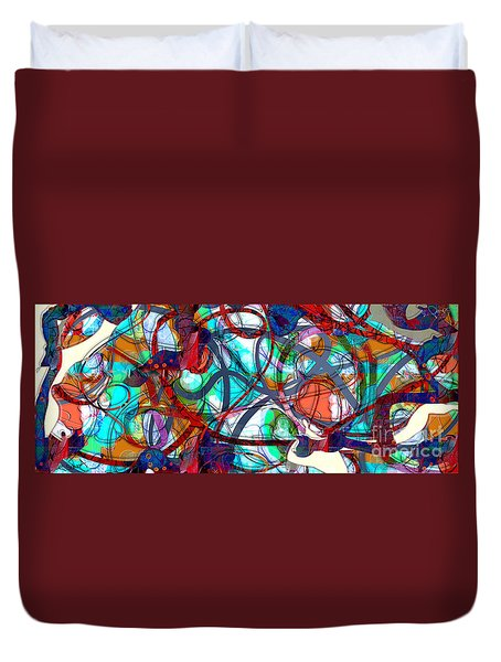 Rush Hour Traffic Duvet Cover