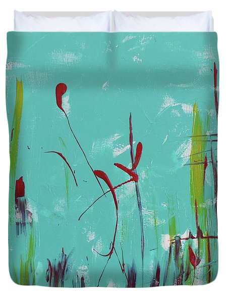 Rushes And Reeds Duvet Cover