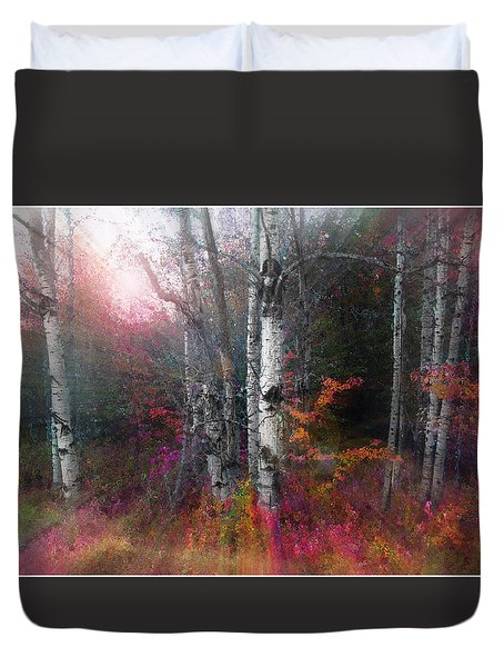 Rushing Into The Rainbow Grove Duvet Cover