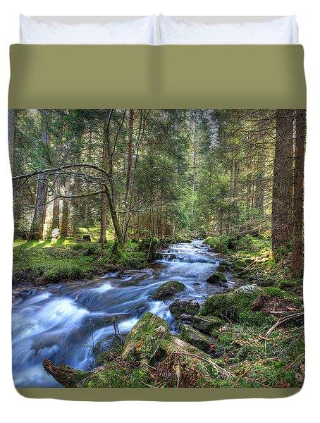 Rushing Stream Duvet Cover