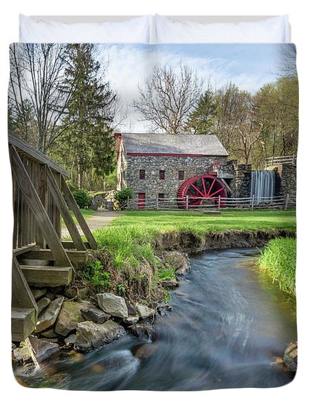 Rushing Water At The Grist Mill Duvet Cover
