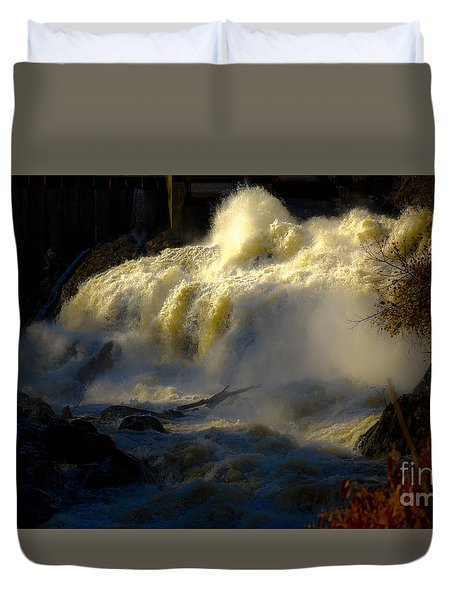 Rushing Water Duvet Cover by Sherman Perry