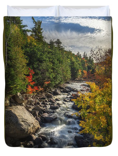 Rushing Waters Duvet Cover by Mark Papke