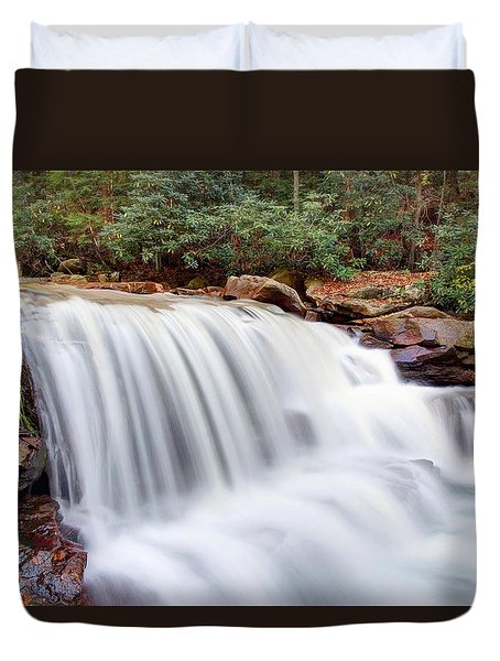 Rushing Waters Of Decker Creek Duvet Cover by Gene Walls