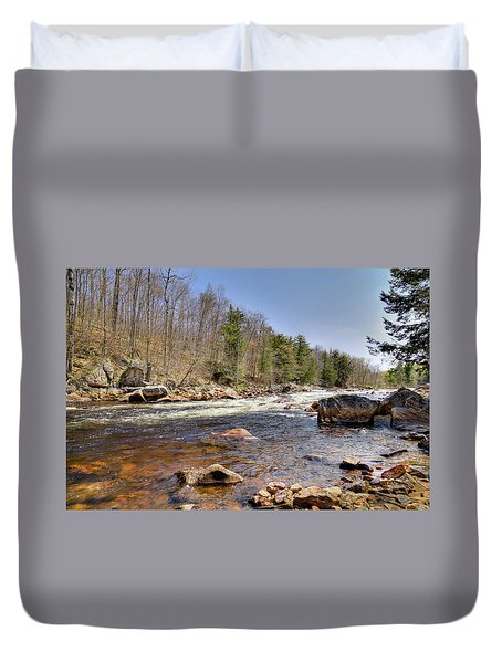Duvet Cover featuring the photograph Rushing Waters Of The Moose River by David Patterson