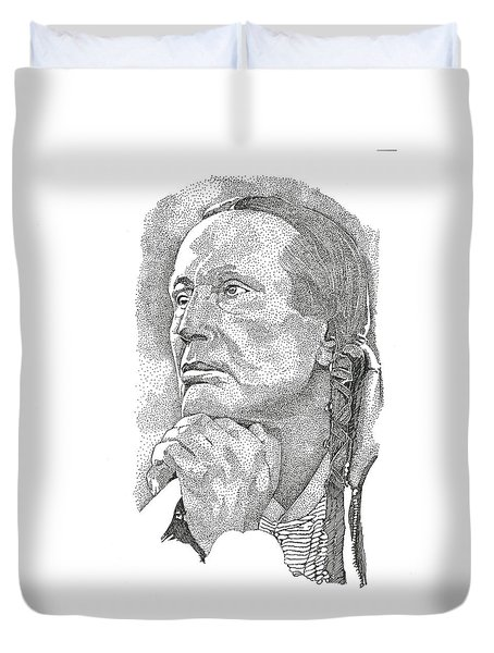 Russell Means Duvet Cover