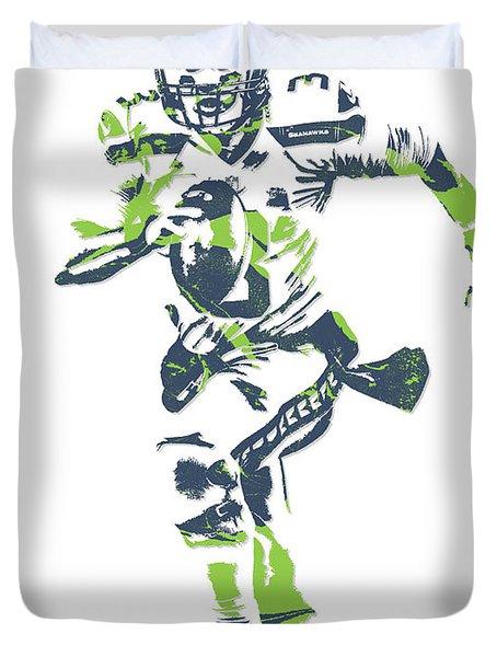 Russell Wilson Seattle Seahawks Pixel Art 14 Duvet Cover