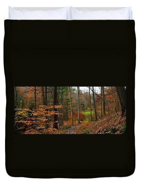 Duvet Cover featuring the photograph Russet Days by Living Color Photography Lorraine Lynch