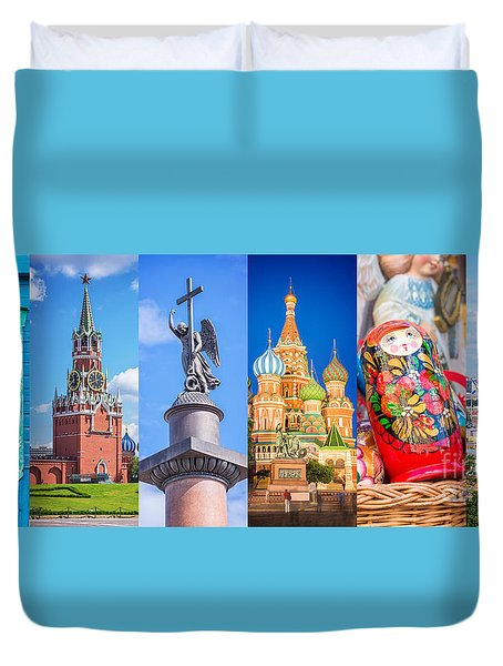 Russia Collage Duvet Cover