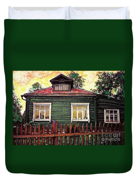 Russian House 2 Duvet Cover by Sarah Loft