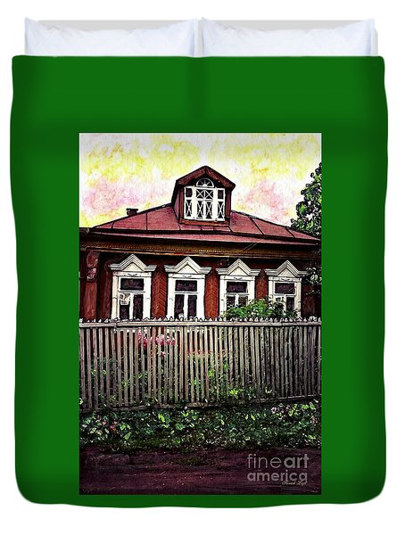 Russian House Duvet Cover by Sarah Loft