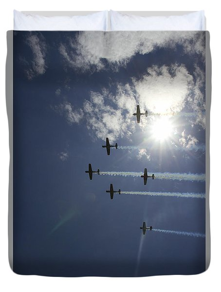 Duvet Cover featuring the photograph Russian Roolettes And Sydney Sun by Miroslava Jurcik