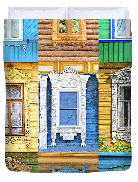Russian Windows Duvet Cover