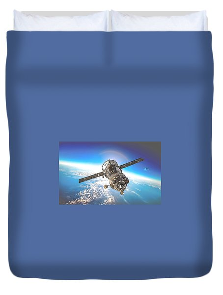 Majestic Blue Planet Earth Duvet Cover by Maciek Froncisz