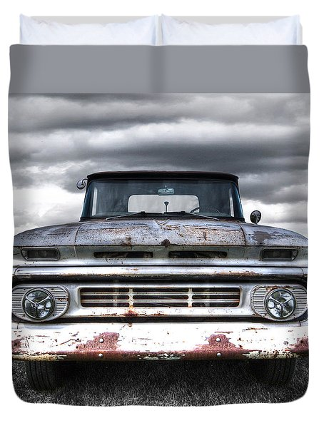 Rust And Proud - 62 Chevy Fleetside Duvet Cover