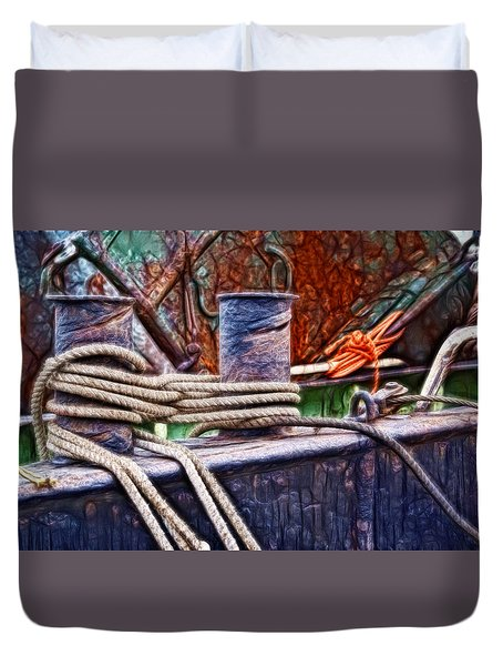 Rust And Rope Duvet Cover