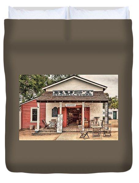 Rust General Store Duvet Cover