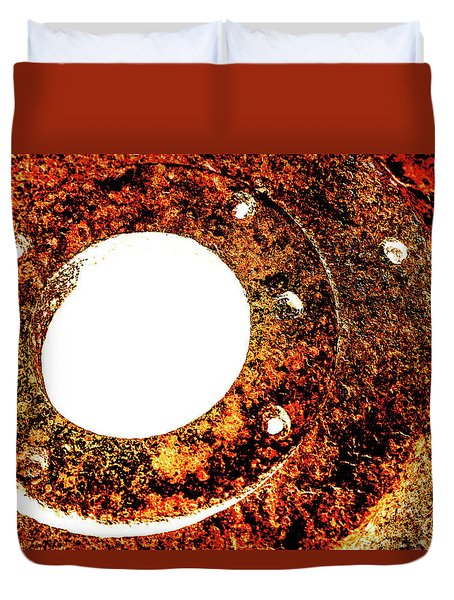 Duvet Cover featuring the photograph Rust In Infrared by Onyonet  Photo Studios