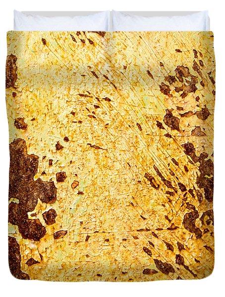 Rust Metal Duvet Cover