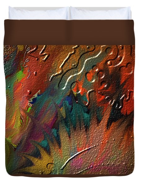 Duvet Cover featuring the painting Rust Never Sleeps by Kevin Caudill