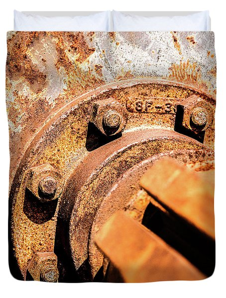 Duvet Cover featuring the photograph Rust by Onyonet  Photo Studios