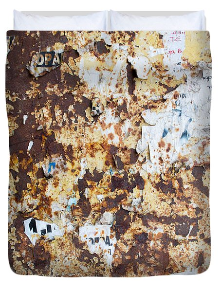 Duvet Cover featuring the photograph Rust Paper Texture by John Williams