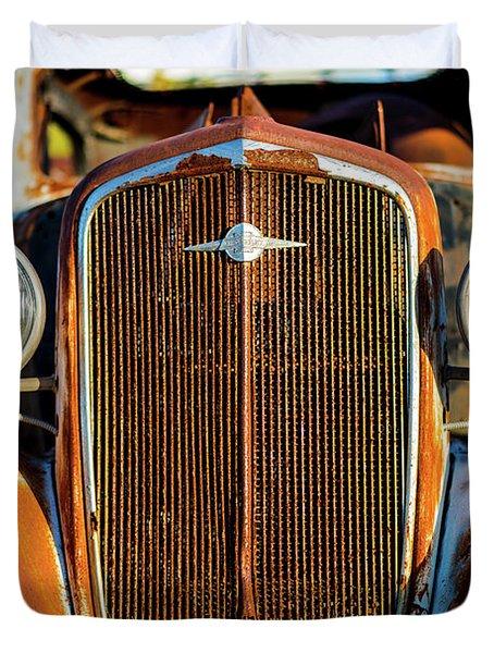Rusted Chevrolet Duvet Cover