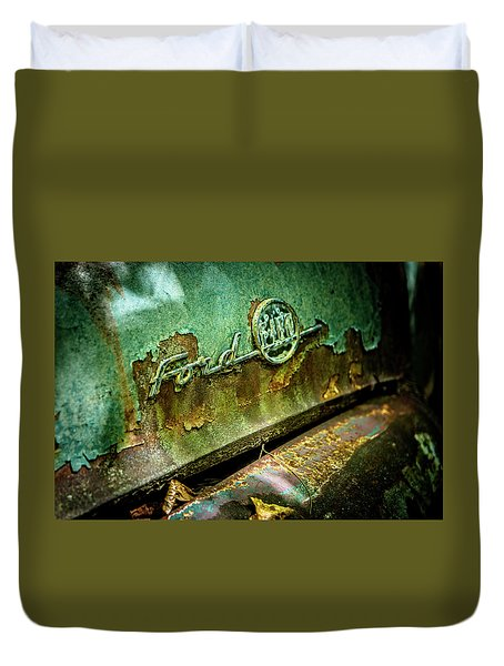 Rusted Ford Duvet Cover