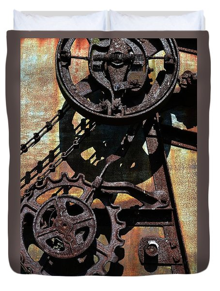 Rusted Gears 2.0 Duvet Cover