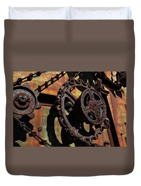 Rusted Gears Duvet Cover